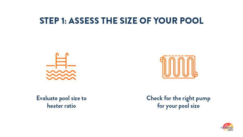 Pool heater efficiency step 1
